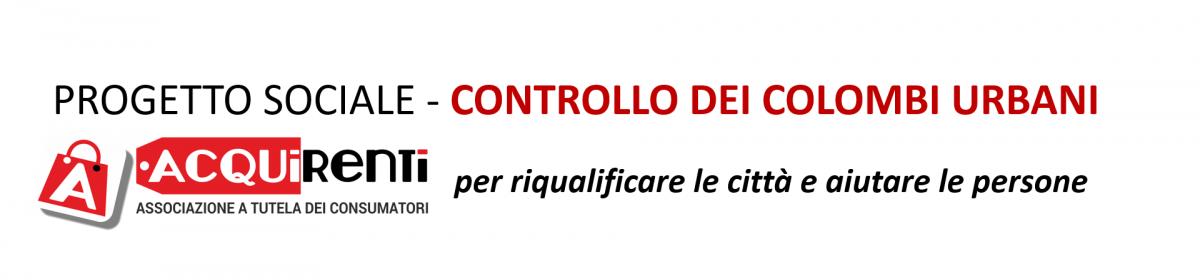Progetto sociale controllo colombi